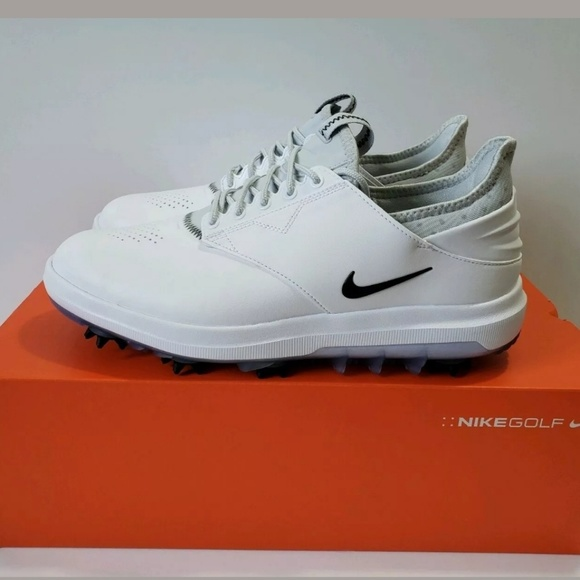 Nike Air Zoom Direct Spikes White Black Golf Shoes NWT